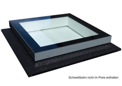 Flachdach Oberlicht SkyVision FIXED mit Bitumen ummantelter Unterkonstruktion (Schweißbahn nicht im Preis enthalten)