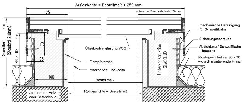 Technische Zeichnung CIRCULAR-WALK-ON