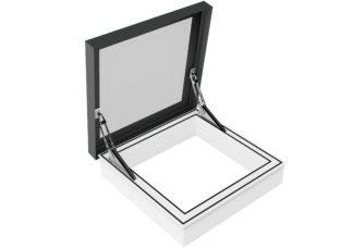 3-D Zeichnung des Rauchabzugsfensters und Ausstiegsfenster SkyVision ACCESS