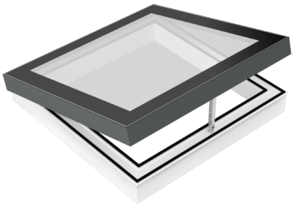 SkyVision COMFORT - zu öffnendes Design-Oberlicht (engl. Skylight) für flache Dächer bis 30°